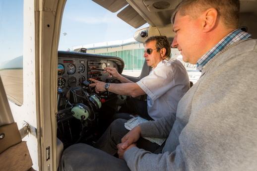 Flugzeug selber fliegen Insel Rügen