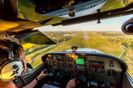 Flugzeug selber fliegen Flughafen BarthBarth