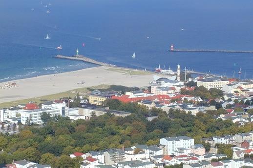 Rostock Warnemünde aus der Luft