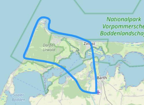 Route A Darßer Ort Zingst Prerow