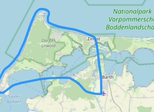 Route B Wustrow Ahrenshoop Darßer Ort Zingst