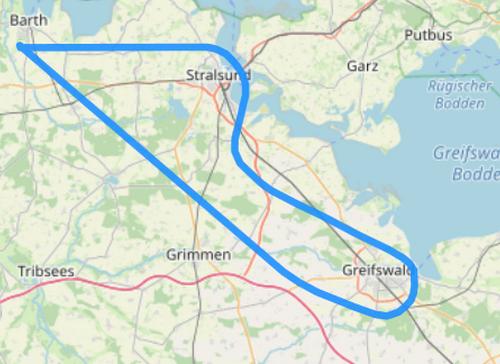 Route L Stralsund und Greifswald