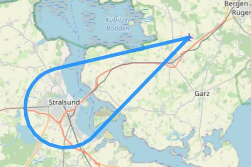 Rundflug 2 Stralsund Rügenbrücke Strelasund