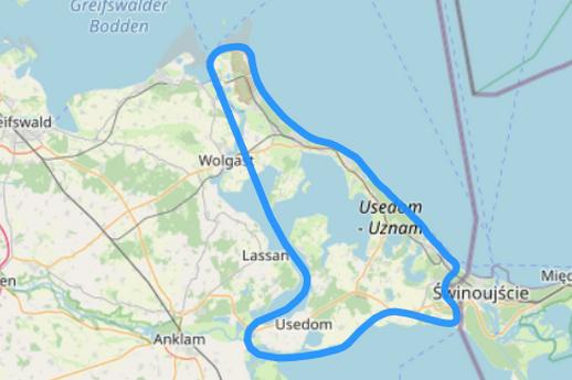 Rundflug C Konturenfliegen um Usedom