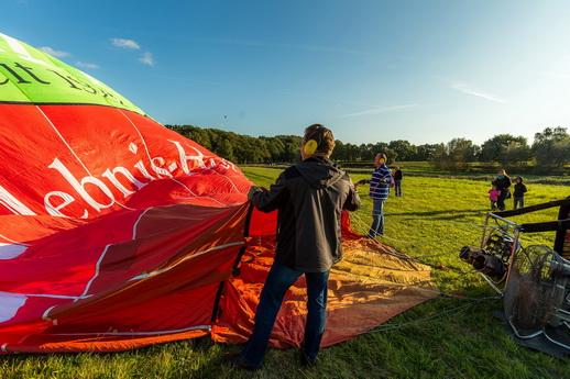 Ballonfahrt Aufbau des Heißluftballon