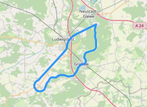 Gyrocopter Route C Elde Müritz Wasserstraße