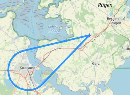 Route 2 Stralsund Rügenbrücke Strelasund