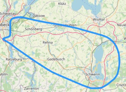 Route C über die Landeshauptstadt Schwerin