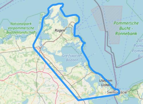Route F Rügen Hiddensee Usedom