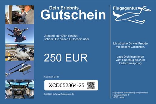 Wertgutscheine mit einem Wert von 250 Euro