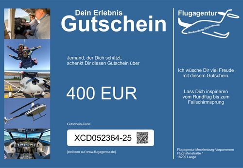 Wertgutschein 400 Euro