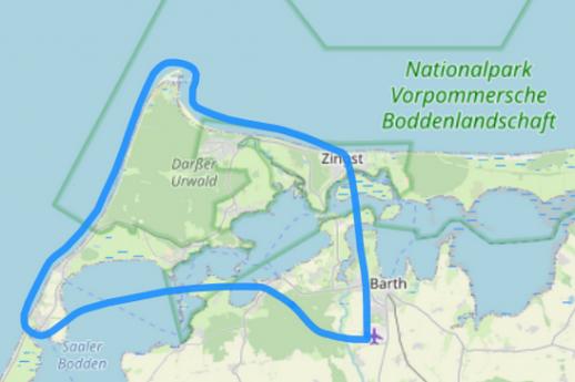 Hubschrauber Route A Born Darßer Ort Zingst