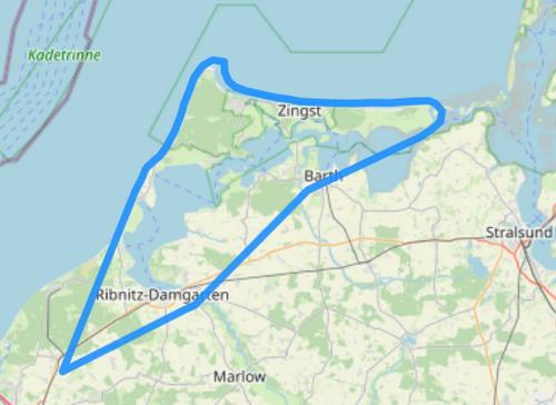 Hubschrauber Route D Fischland Darß Zingst
