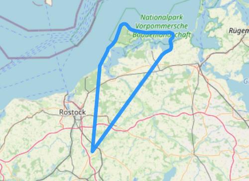 Hubschrauber Route E Fischland Darß Zingst