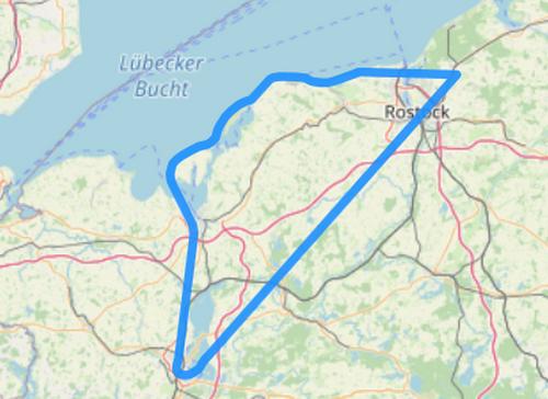Hubschrauber Route F Poel Wismar Schwerin