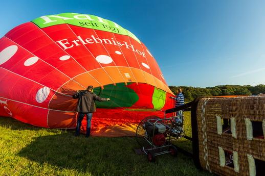 Ballonfahren Ballonfahrt Rostock Aufbau