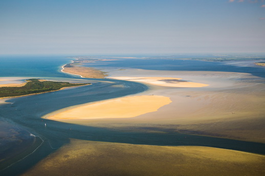 Bodden Sandhaken Nehrungen Fischland Darß Zingst