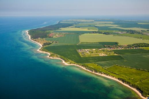 Fliegen über Mecklenburgische Ostseeküste