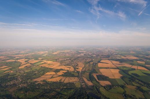 Flug über Feldberger Seenlandschaft
