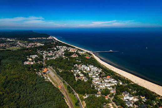 Panoramablick über die Insel